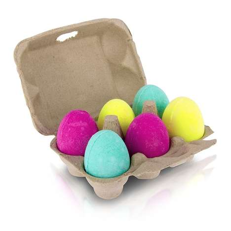 Egg-Shaped Bath Bombs