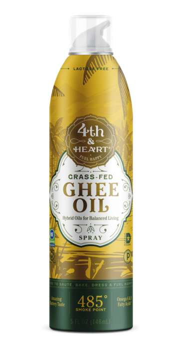 Ghee Cooking Sprays - Fourth & Heart Now Offers Ghee Oil in a Convenient, Sprayable Format