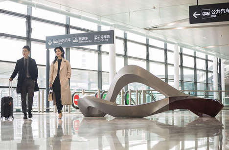Sculptural Terminal Seats - The 'Sea Cloud' Sculpture Offers an Artistic Touch with Public Seating