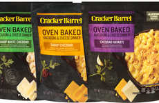 Prepackaged Artisan Noodle Meals - The Cracker Barrel Oven Baked Macaroni & Cheese is Simple to Prep