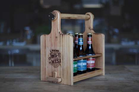 Multipurpose Rustic Six-Packs - Bohemia's Beer Six-Pack Crate Transforms into a Set of Kitchen Tools