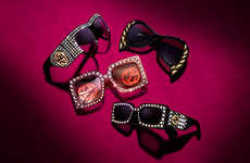 Opulent Co-Branded Eyewear - The Net-a-Porter x Gucci Accessory Range Boasts Bejeweled Styles