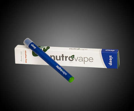 Relaxation Sleep Aid Vapes - The NutroVape Inhalable Sleep Aids are a Soothing Way to Get to Bed