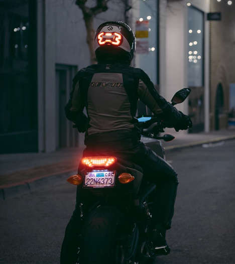 Smart LED Helmet Lights