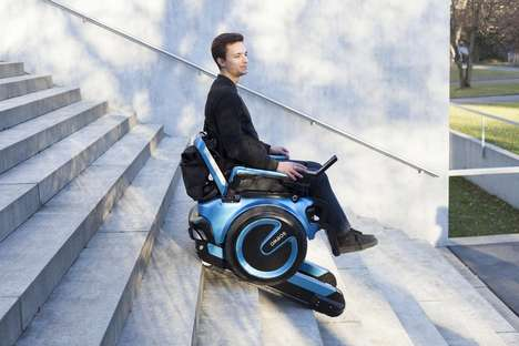 Securely Balanced Wheelchairs - The 'Scewo' Accessible Wheelchair Climbs Stairs and Elevates