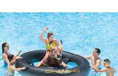 Bar Bull Pool Toys - The Intex 'Inflat-A-Bull' Inflatable Pool Toys are Fun for All Ages