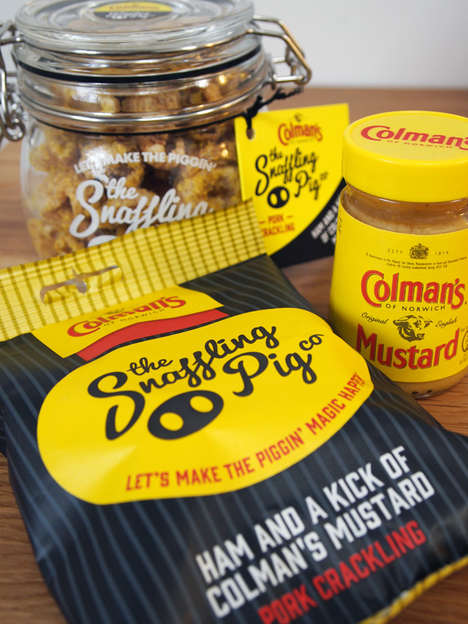 Savory Mustard Crackling Snacks - The Snaffling Pig x Colman's Fried Pork Crackling is Delicious