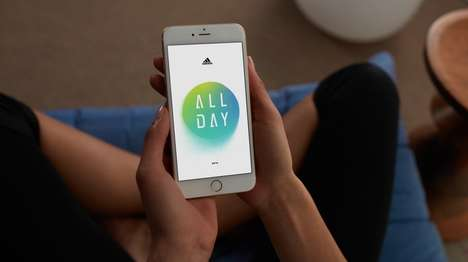 Athletic Health Apps - Adidas' 'ALL DAY' Provides Daily Challenges for Mind and Body Health