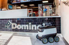 Fast Food Delivery Rovers - The Domino's Pizza Delivery Robot Has Just Launched in Europe