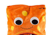 Snack-Inspired Plush Toys - The Cheesy Puffs XL Plush is a Clever Toy with Its Own Storage Bag
