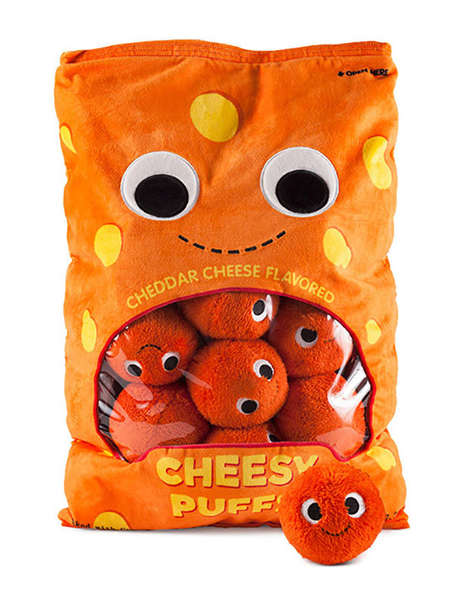 The Cheesy Puffs XL Plush is a Clever Toy with Its Own Storage Bag