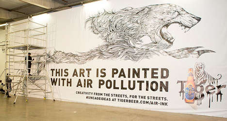 Inked Pollution Murals - These Awareness-Raising Billboards Were Made with Air-Ink Technology