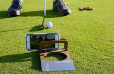 Wooden Golfer Camera Holders