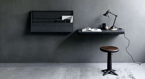 Bookshelf Folding Wall Desks