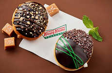 Upscale Chocolate Donuts - These Krispy Kreme Dessert Donuts are Made with Ghirardelli Chocolate