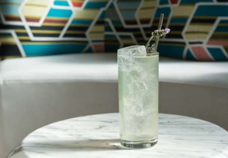 Aromatherapy-Inspired Cocktails - Bartender Jose Rivera's Lavender Drink is Gently Fragrant