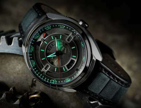 Upcycled Automotive Timepieces