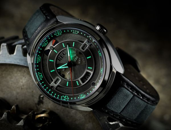Upcycled Automotive Timepieces : porche inspired watch