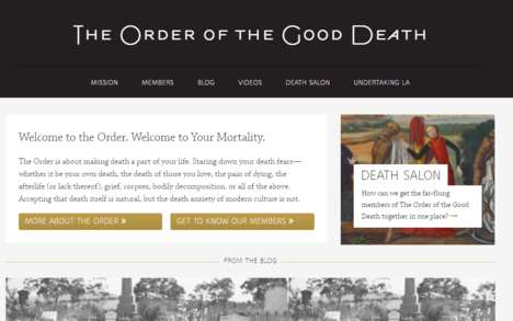 Death Acceptance Communities - The Order of the Good Death Aims to Decrease Anxiety Over Dying
