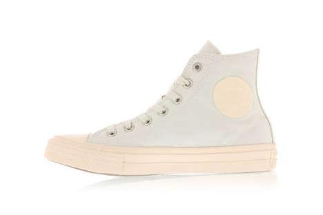 Feminine Pastel-Soled Sneakers