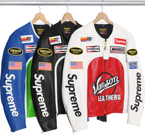 Collectible Leather Racing Jackets - The Supreme x Vanson Leathers Star Jacket is Hard to Find