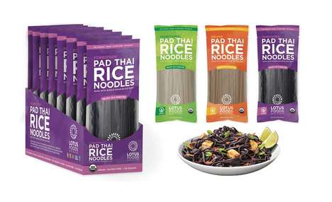 Organic Grain Noodles - The Lotus Foods Organic Pad Thai Rice Noodles are a Healthy Alternative