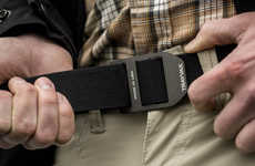 Heavy Duty Aluminum Belts - The Trayvax Cinch Belt Contours to Exact Size and Tautness Needs