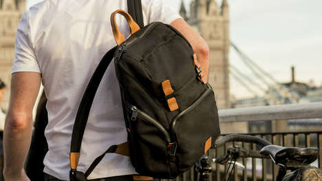 Trackable Everyday Backpacks - The Knomo #LiveFree Backpack Offers Style and Technology