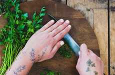 Herb-Scented Temporary Tattoos - These Tattly Tattoos are Gently Scented with a Fresh Fragrance