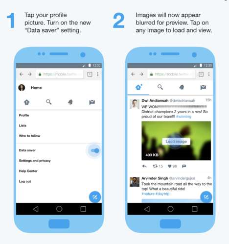 Data-Saving Social Apps - 'Twitter Lite' Offers Optimized Features for Mobile Users