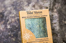 Eco-Friendly Fish Leather Wallets - These Tidal Vision Salmon Leather Wallets Make Use of Waste