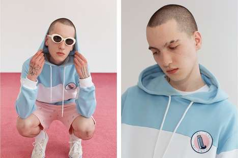 Contemptuous Pastel Streetwear - The New Lazy Oaf Collection Features Cynical Graphics