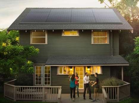 Streamlined Solar Roof Panels
