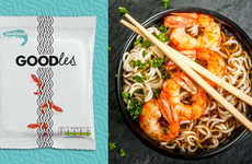 High-End Instant Noodles - The 'Goodles' Brand Decided to Recreate Standard Instant Noodle Packaging