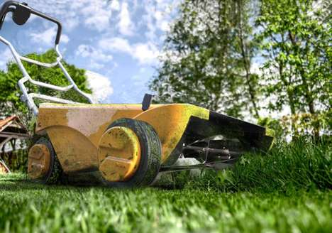 Hybrid Power Lawnmowers - The 'Aurinco' Grass Lawn Mower Harnesses the Power of the Sun
