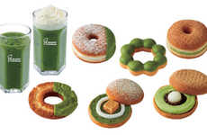 Matcha Donut Collections - Mister Donut and Gion Tusjiri Teamed Up for a Line of Matcha Donuts