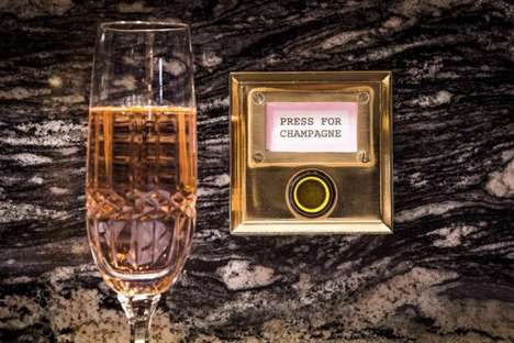 In-Office Champagne Buttons - London's 40 Beak Street Will Be Built to Offer Champagne on Demand