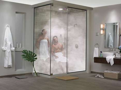 Spa-Inspired Steam Showers - The Steamist Total Sense Steam Spa Turns a Bathroom into an Oasis
