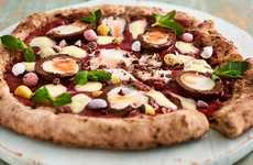 Easter Dessert-Topped Pizzas - The Crust Bros. 'Fior-egg-tina' Pizza is Made with Cadbury Creme Eggs