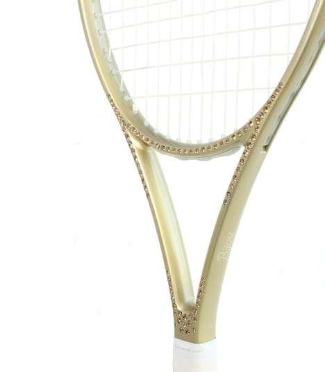 Diamond-Studded Tennis Rackets