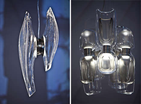 Curvaceous Architectural Chandeliers - The Duna and Eve Chandeliers are by Zaha Hadid Design