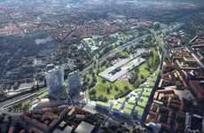 Milanese Railyard Parks - MAD Architects' Scali Milano Design Rejuvenates the Dilapidated Railyards