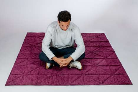 Folding Origami Carpets - The 'Imagiro' Rug Carpet is a Work of Art for Your Floors
