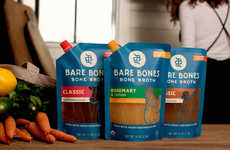 Bone Broth Pouches - 'Bare Bones' Sells Broth in Bags, Rather Than Cartons or Cans