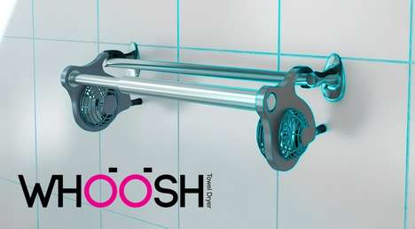Eco-Friendly Towel Dryers - The WHOOSH Towel Dryer Forgoes the Need for Electronic Methods of Drying
