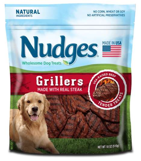 Barbecue-Inspired Dog Treats - Nudges' Treats for Dogs Mimic the Look and Taste of Grilled Foods