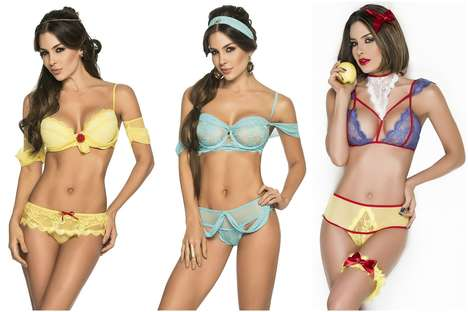 Disney Princess Lingerie - YANDY Offers Odd Intimate Garments for Women Looking to Relive Their Past
