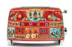 Painted Fashion Kitchen Products - The Smeg 'Sicily is my Love' Collection Has Dolce & Gabbana Art