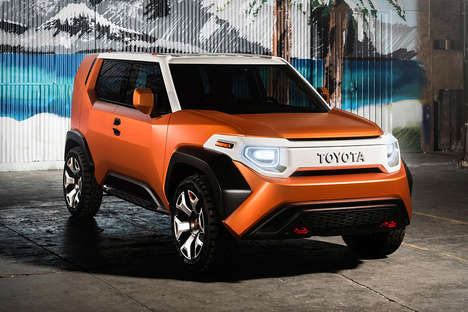 Urban Explorer SUVs - The Toyota FT-4X Concept Car Vehicle is for Urban Streets and Exploration