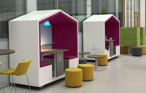 Unused Space-Utilizing Office Pods